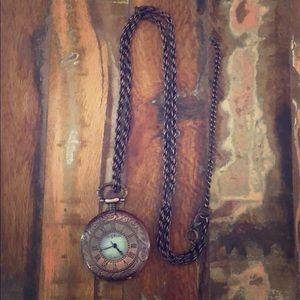 Sophie quartz clock necklace
